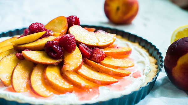 No Sugar Added Peach Tart