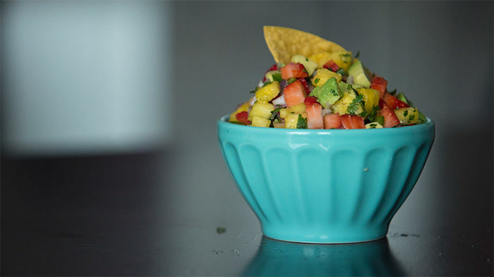 Sugar Free Pineapple Strawberry Salsa