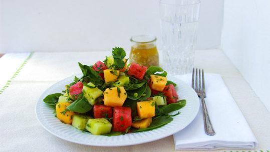 Sugar Free Watermelon & Spinach Salad