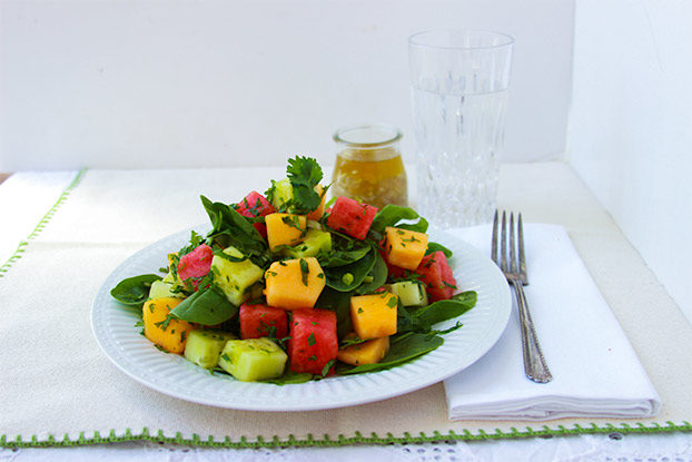 Sugar Free Watermelon & Spinach Salad